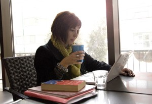Freelancer Denise Summers gets inspired at a local coffee spot