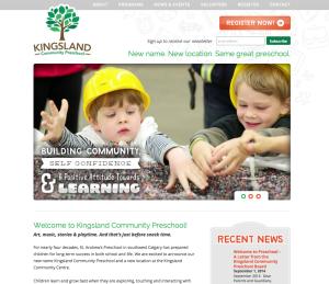 New preschool homepage