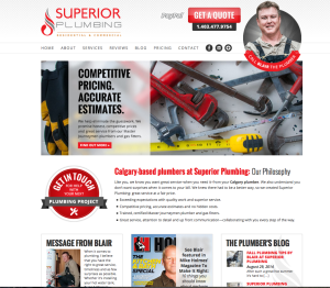 Superior Plumbing: new homepage