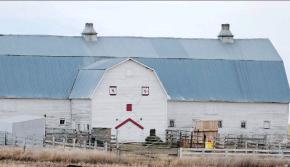 Not-So-Happy Face barn